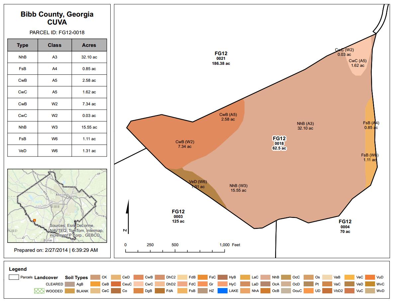 Sample CUVA Report Map